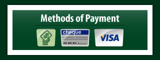 methods of payment - cash, cheque, visa